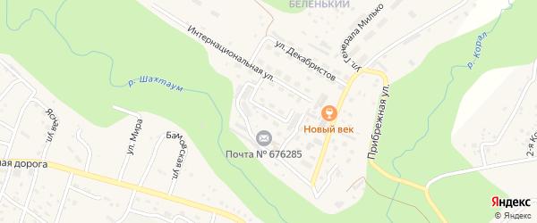 Светлая улица на карте Тынды с номерами домов