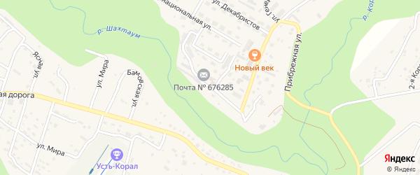 2-я Лесная улица на карте Тынды с номерами домов