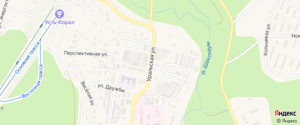 Уральская улица на карте Тынды с номерами домов