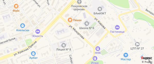 Улица Мохортова на карте Тынды с номерами домов
