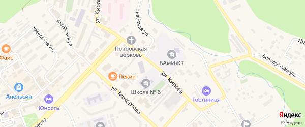 Улица Кирова на карте Тынды с номерами домов