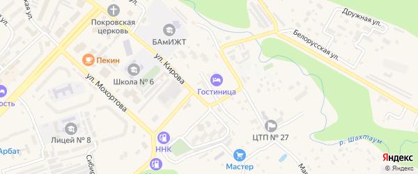 Рижская улица на карте Тынды с номерами домов