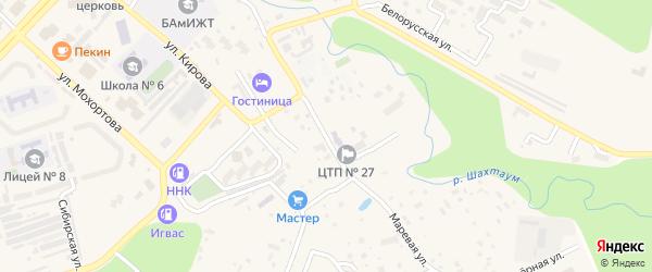 Киевская улица на карте Тынды с номерами домов