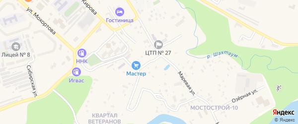 Солнечный переулок на карте Тынды с номерами домов