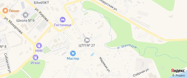 Угольный переулок на карте Тынды с номерами домов