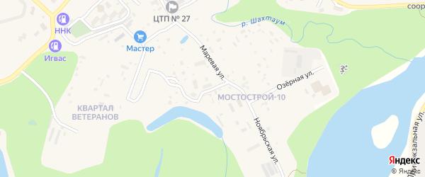 Мерзлотная улица на карте Тынды с номерами домов