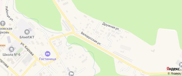 Белорусская улица на карте Тынды с номерами домов