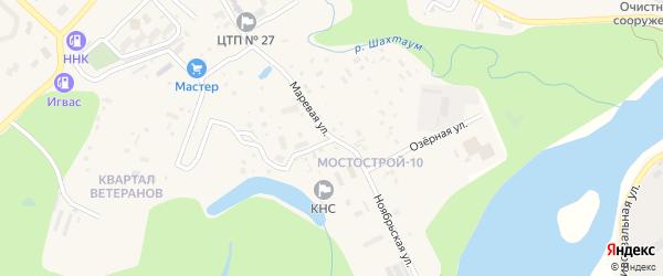 Маревая улица на карте Тынды с номерами домов