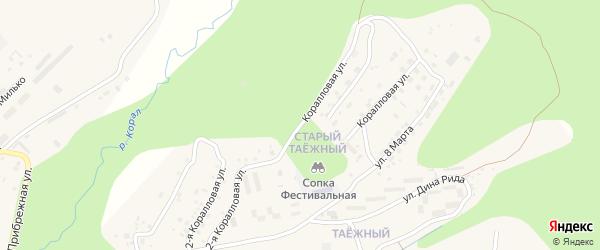 Коралловая 2-я улица на карте Тынды с номерами домов