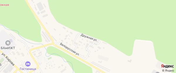 Дружная улица на карте Тынды с номерами домов