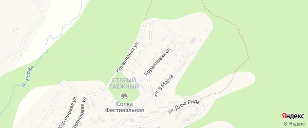 Коралловая улица на карте Тынды с номерами домов