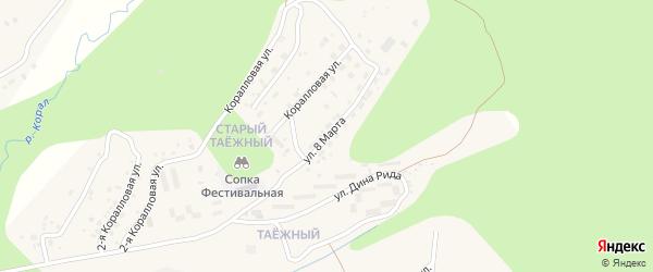 Улица 8 Марта на карте Тынды с номерами домов