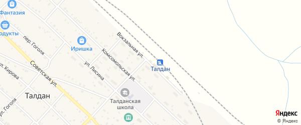 Вокзальная улица на карте села Талдана с номерами домов