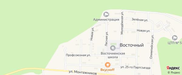 Новая улица на карте Восточного поселка с номерами домов