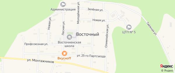 Улица Чоботова на карте Восточного поселка с номерами домов