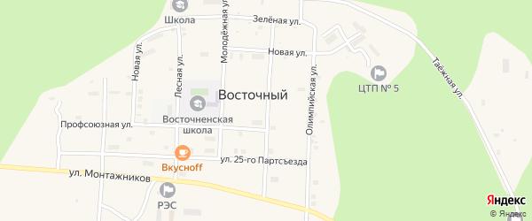 Шахтаумская улица на карте Восточного поселка с номерами домов