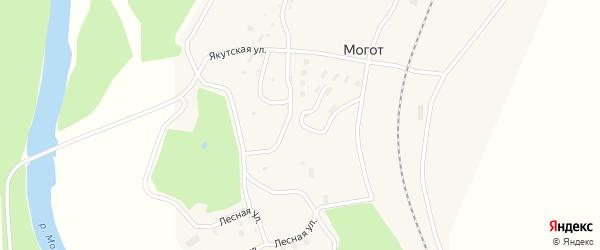 Якутская улица на карте поселка Могот с номерами домов