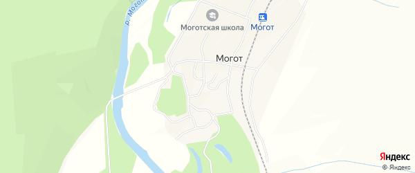 Карта поселка Могот в Амурской области с улицами и номерами домов