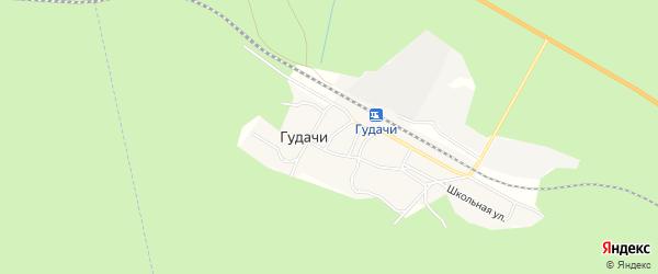 Карта поселка Гудачи в Амурской области с улицами и номерами домов