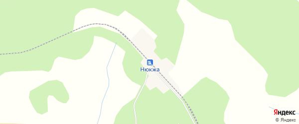 Карта станции Нюкжа в Амурской области с улицами и номерами домов
