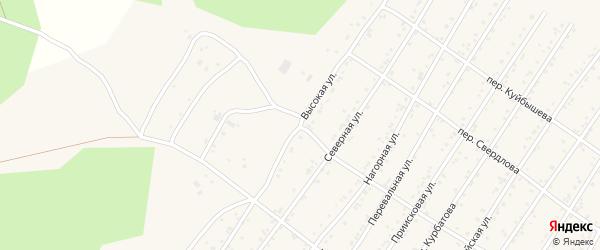 Высокая улица на карте поселка Магдагачей с номерами домов