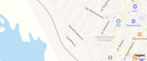 Локомотивная улица на карте поселка Магдагачей с номерами домов