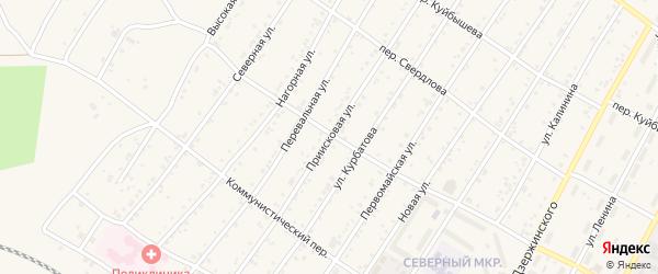 Приисковая улица на карте поселка Магдагачей с номерами домов