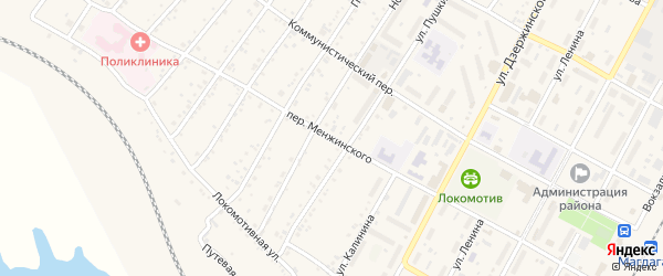 Переулок Меньжинского на карте поселка Магдагачей с номерами домов