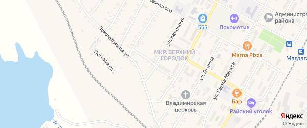 Переездный переулок на карте поселка Магдагачей с номерами домов