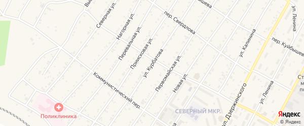 Улица Курбатова на карте поселка Магдагачей с номерами домов