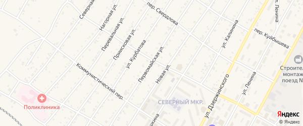 Первомайская улица на карте поселка Магдагачей с номерами домов