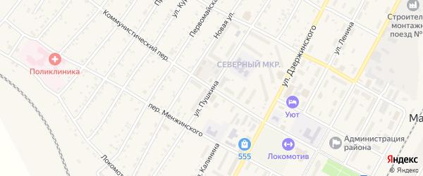 Коммунистический переулок на карте поселка Магдагачей с номерами домов