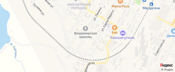 Западный переулок на карте поселка Магдагачей с номерами домов