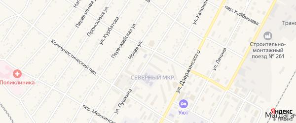 Улица Пушкина на карте поселка Магдагачей с номерами домов