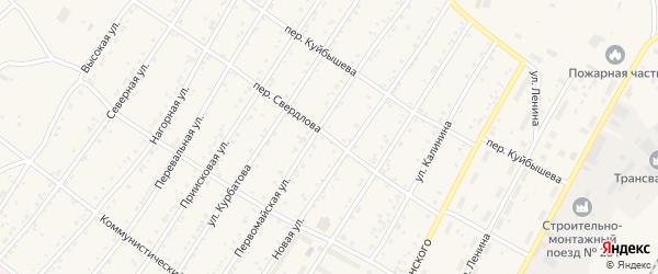 Переулок Свердлова на карте поселка Магдагачей с номерами домов