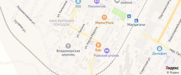 Переулок 8 Марта на карте поселка Магдагачей с номерами домов