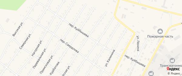 Переулок Куйбышева на карте поселка Магдагачей с номерами домов