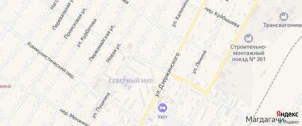 Улица Калинина на карте поселка Магдагачей с номерами домов