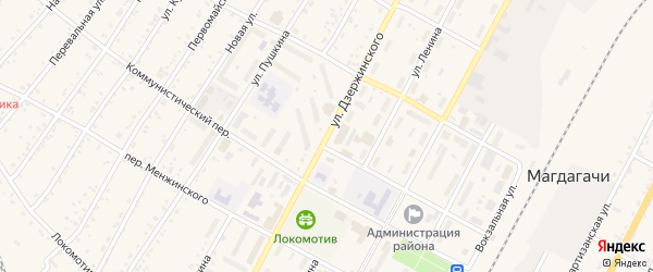 Переулок Дзержинского на карте Свободного с номерами домов