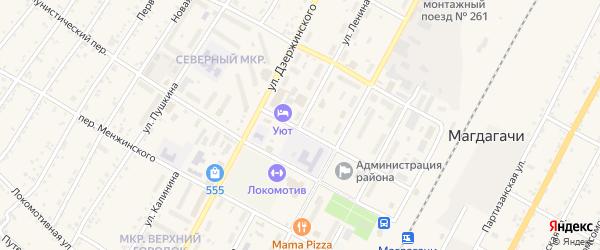 Улица Ленина на карте поселка Магдагачей с номерами домов