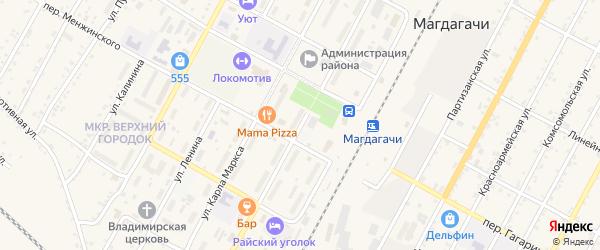 Улица М.Горького на карте поселка Магдагачей с номерами домов
