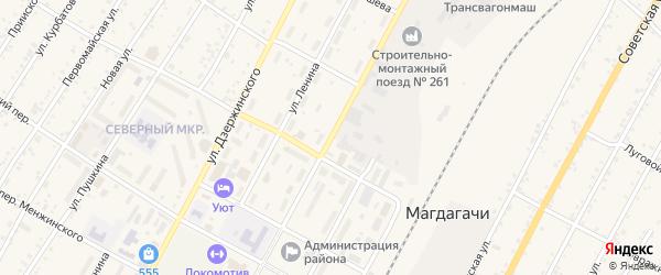 Улица К.Маркса на карте поселка Магдагачей с номерами домов