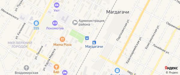 Вокзальная улица на карте поселка Магдагачей с номерами домов