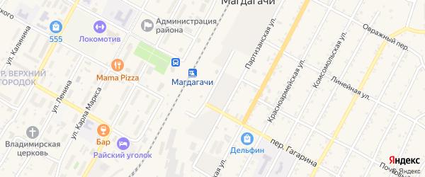 Нулевая улица на карте поселка Магдагачей с номерами домов