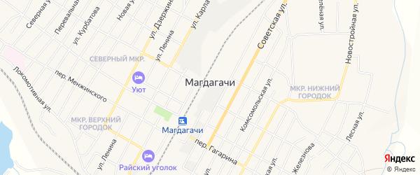 Карта поселка Магдагачей в Амурской области с улицами и номерами домов