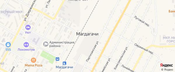 Октябрьская улица на карте поселка Магдагачей с номерами домов