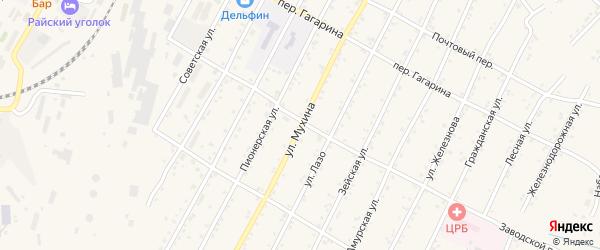 Улица Мухина на карте поселка Магдагачей с номерами домов