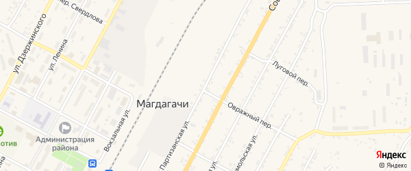 Партизанская улица на карте поселка Магдагачей с номерами домов