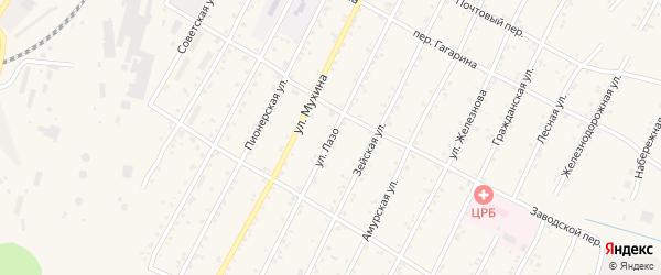 Улица Лазо на карте поселка Магдагачей с номерами домов