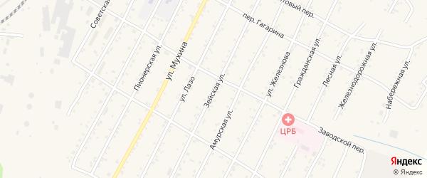 Зейская улица на карте поселка Магдагачей с номерами домов